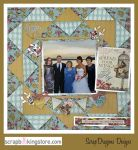 ScrapDragonsDesigns - wedding scrapbook layout- paper technique