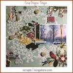 ScrapDragonsDesigns - winter scrapbook layout
