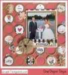 ScrapDragonsDesigns - wedding scrapbook layout